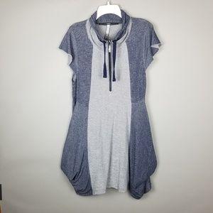 NWOT Kensie Gray Navy Colorblock Pocket Dress XL L